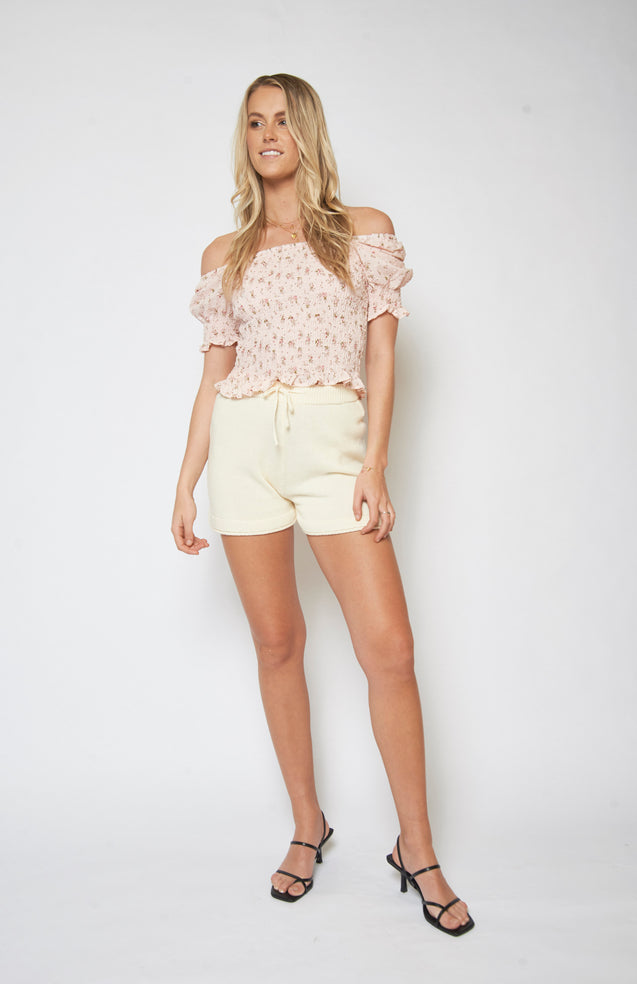Darling Blouse - BLUSH FLORAL