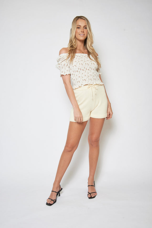 Darling Blouse - WHITE FLORAL