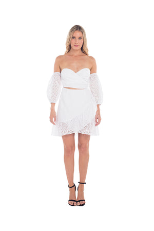 Sunshine Cocktail Dress - STARK WHITE