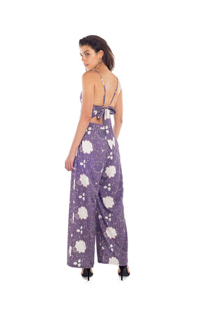 Spicysuger Jumpsuit - FLORAL IN GRAPE