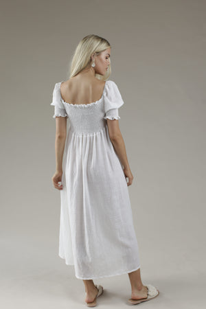 Flow Maxi Dress - WHITE