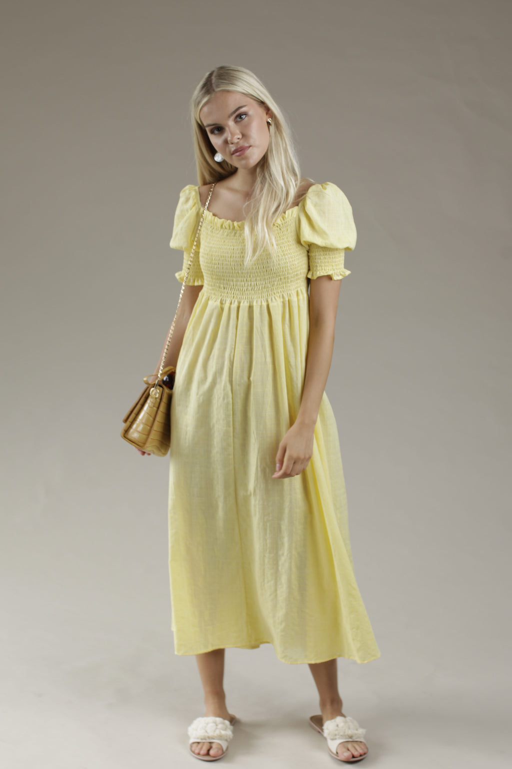 Flow Maxi Dress - YELLOW