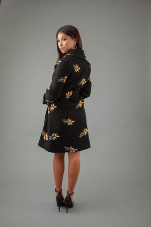 Daisy Coat - BLACK - preorder