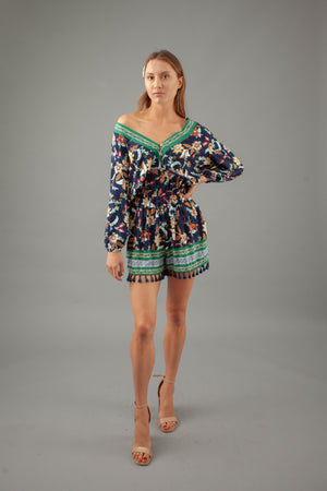 Boho Doll Playsuit - NAVY