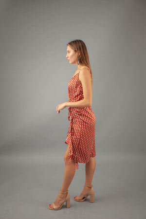 Dotty Dress - RUST