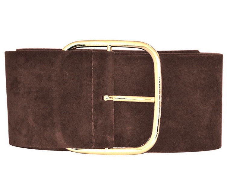 Tiara Suede Belt - BROWN