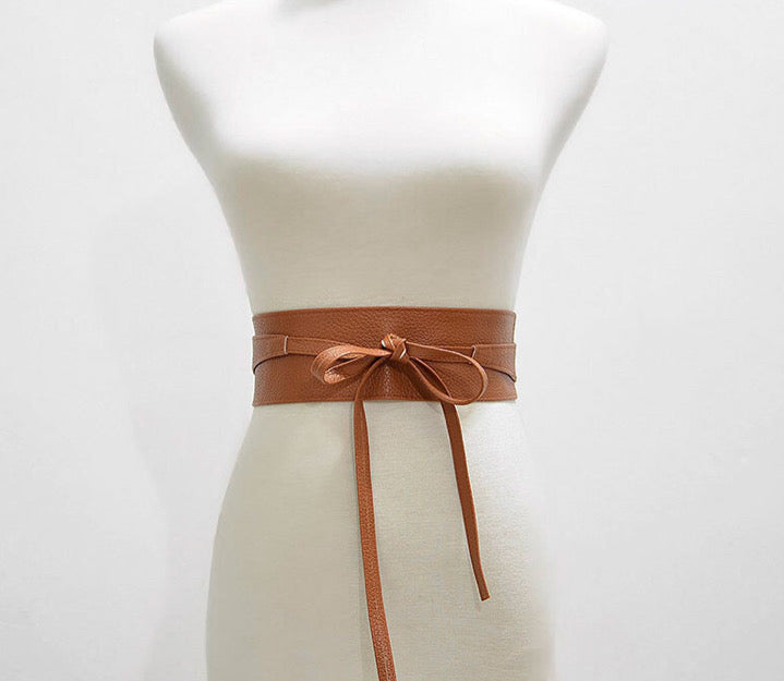 Sweet Bella Wrap Belt - BROWN