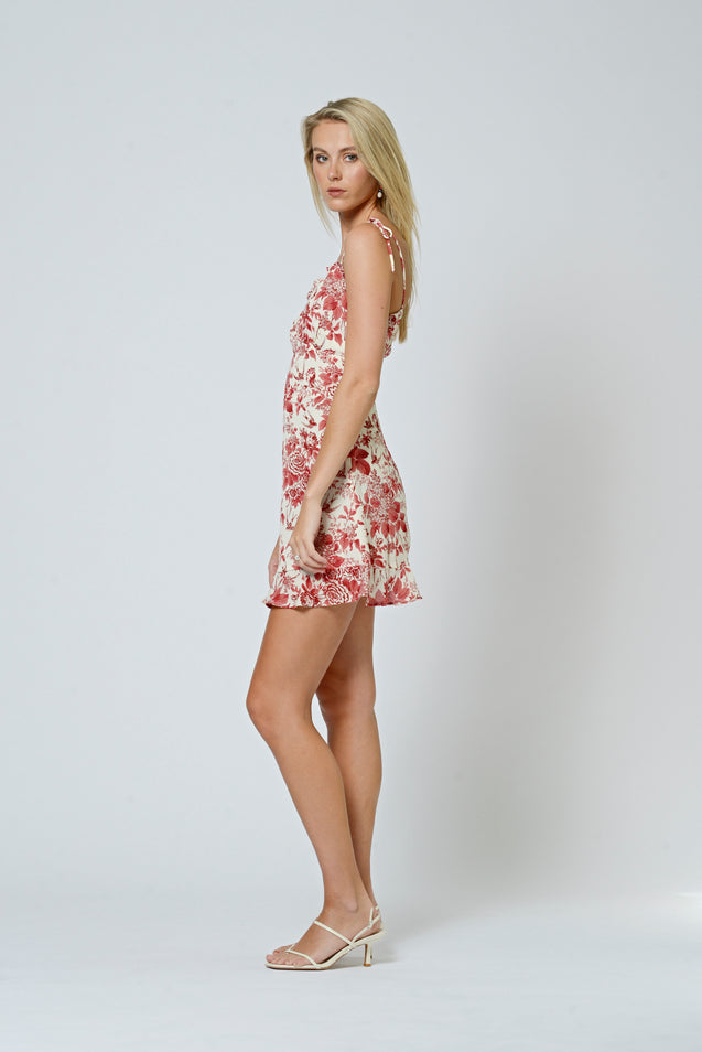 Juliette Mini Dress - VINTAGE ROSE