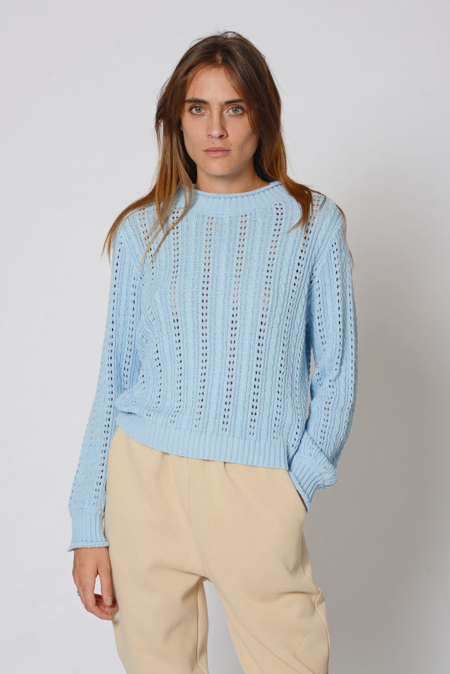 Sofia Knit Top - BLUE