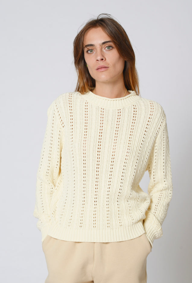 Sofia Knit Top - CREAM