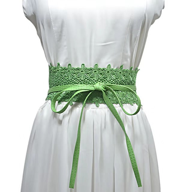 Lilian Wrap Belt - FOREST GREEN