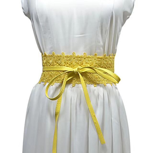 Lilian Wrap Belt - LEMON