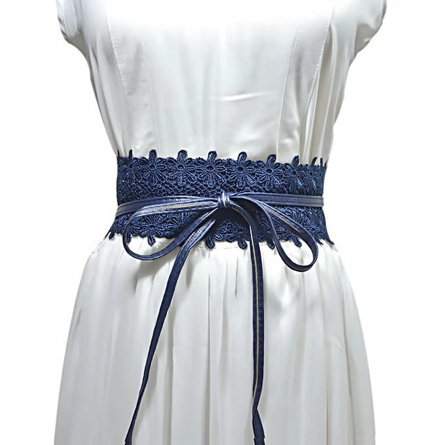 Lilian  Wrap Belt - NAVY
