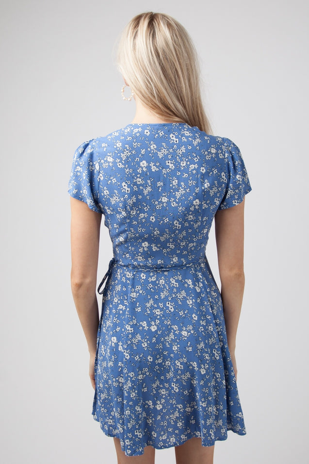 Lucy Wrap Dress - BLUE