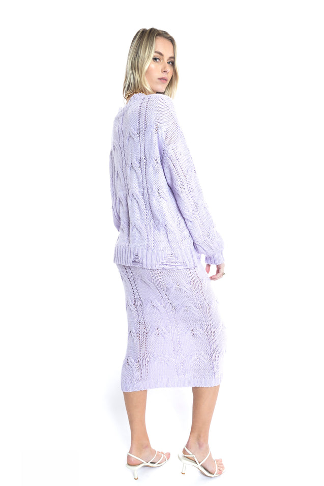 Folley Knit Skirt - LILAC