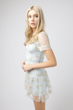 Sweetheart Dress - BABY BLUE