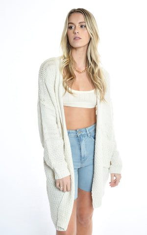 Crystal Heart Cardi - CREAM