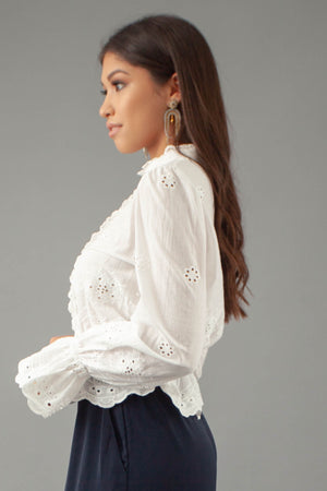 Paris Blouse - WHITE