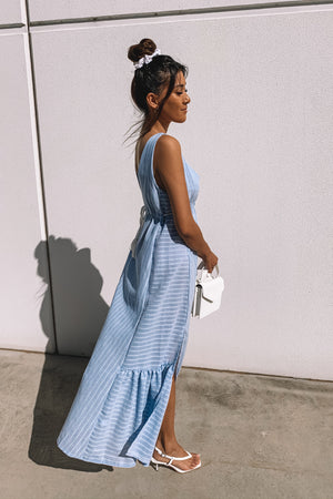 Day Light Maxi Dress - BLUE