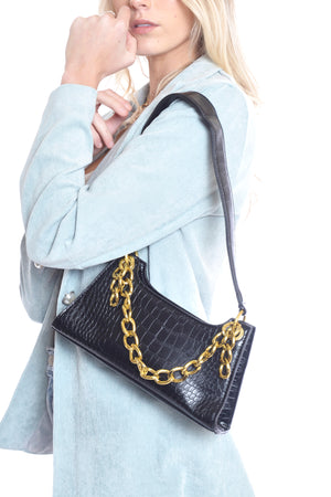 Gigi Chain Bag - BLACK