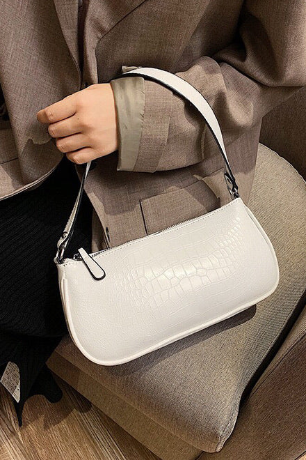 Jasmin Bag - CROC WHITE