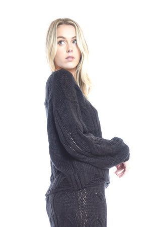 Folley Knit Jumper - BLACK