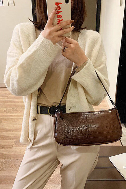 Jasmin Bag - CROC BROWN