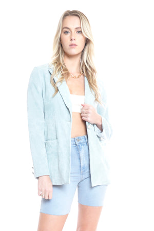 Colour Only Blazer- BABY BLUE