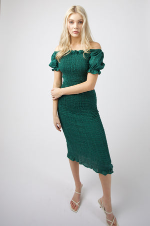 Micha Midi Dress - GREEN
