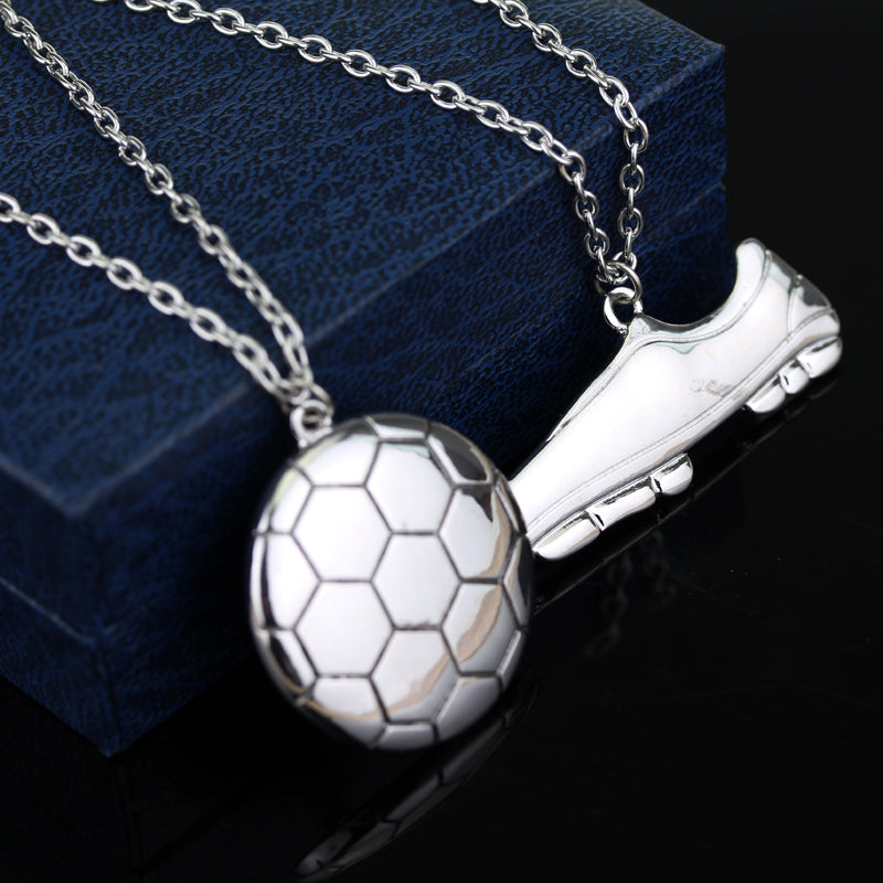 Soccer Necklace Pendant Chain