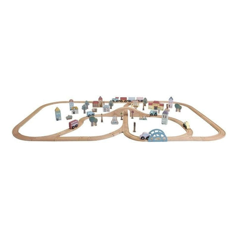 Little Dutch City Set - Little Railway Collection - Holzspielzeug - dadu.ch