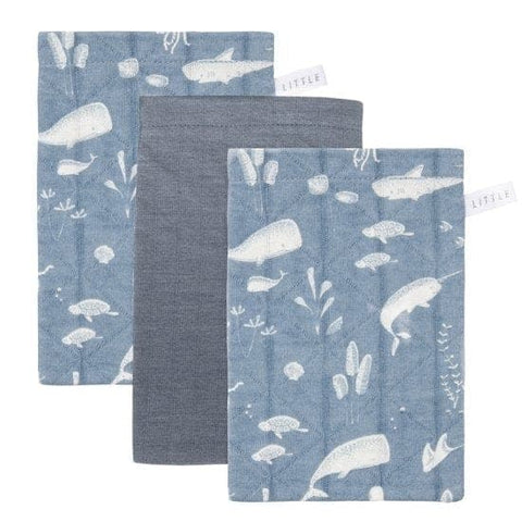 Little Dutch Waschlappen Set - Ocean Blue - Waschlappen - dadu.ch (4581112119356)