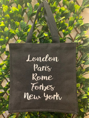 Forbes Hessian Bags