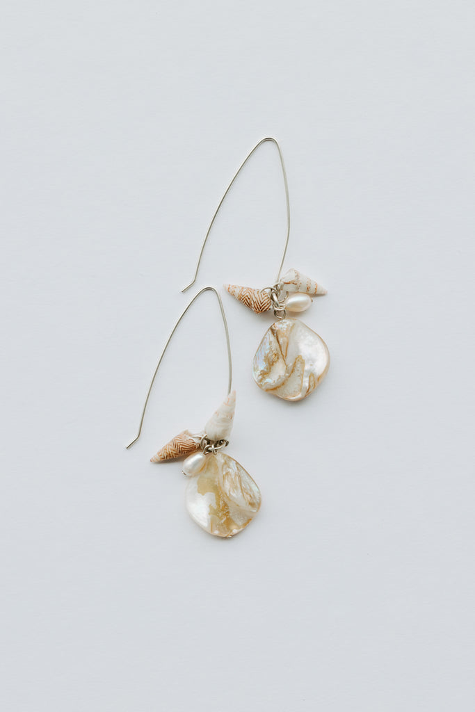 Marrung - sculptured hook earrings