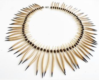 Mother echidna quill necklace