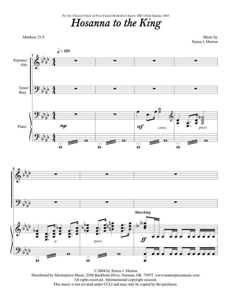 Hosanna to the King (SATB)