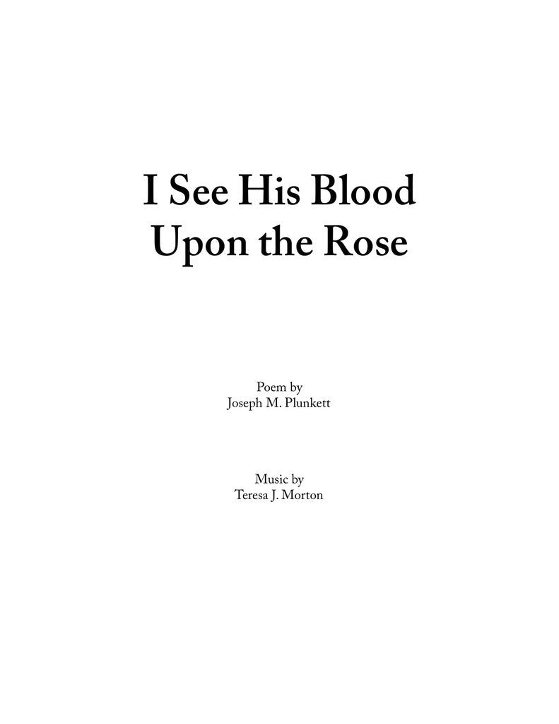 I See His Blood Upon the Rose (SSAA)