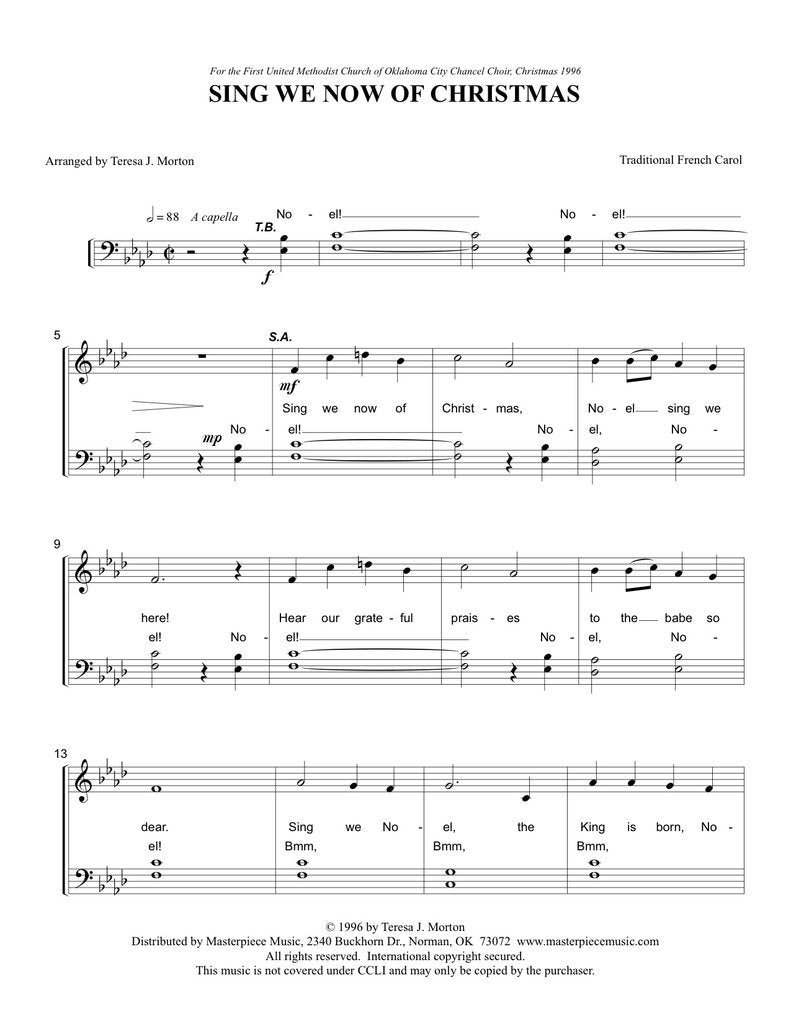 Sing We Now of Christmas (SATB a cappella)