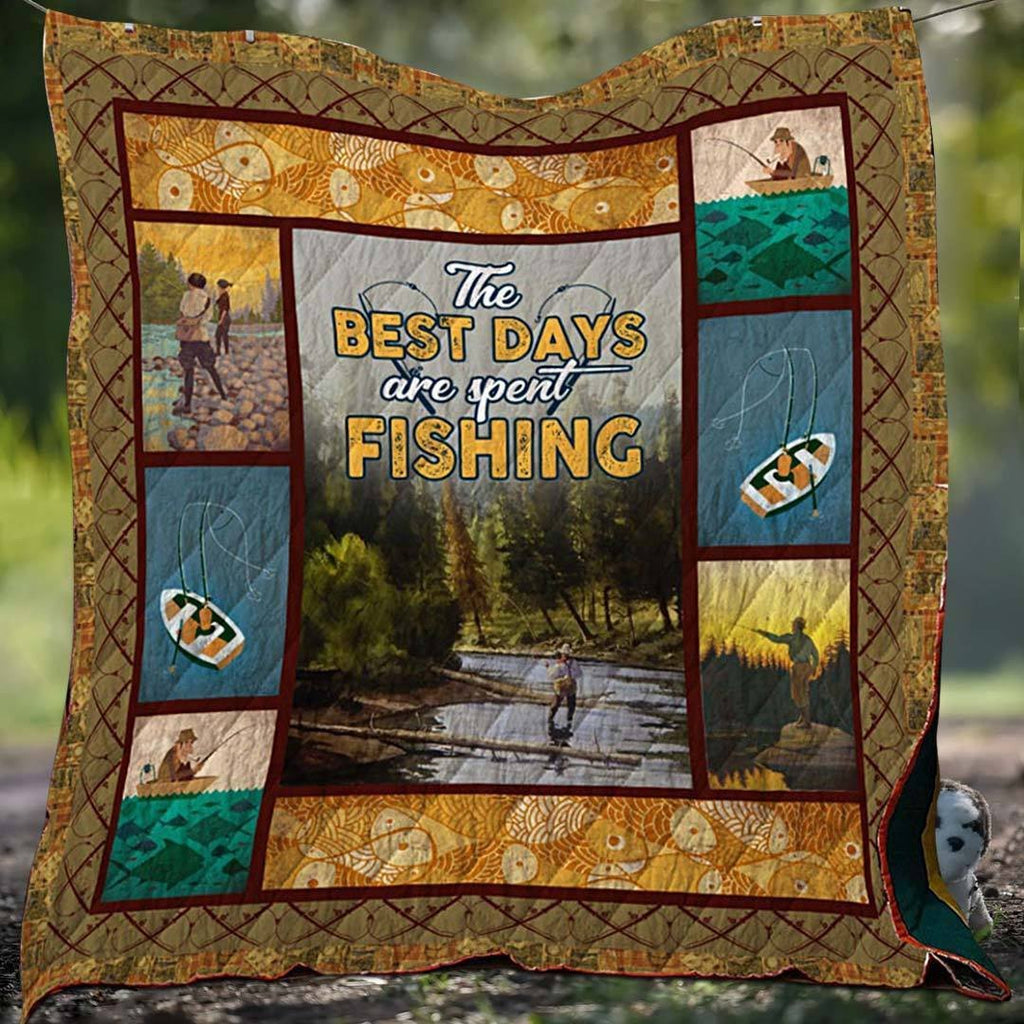 Best Day Fishing Blanket Quilt - g-boxes