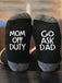 Mom Off Duty Go Ask Dad socks - g-boxes