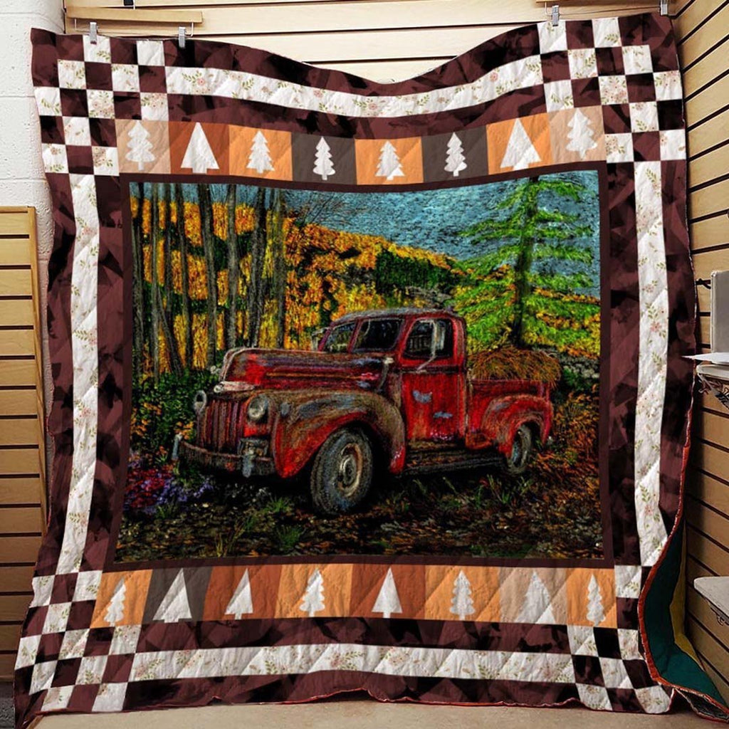 Red Truck Blanket Quilt - g-boxes