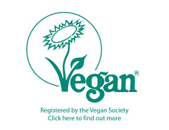Registered by the Vegan Society