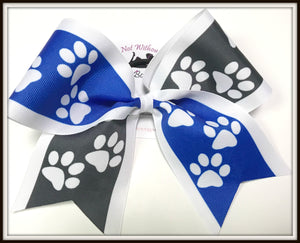 Paw Print Tick Tock Sublimation Cheer Bow | Customize Colors | NWAB Exclusive
