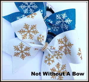 Snowflake Glitter Cheer Bow | NWAB Exclusive
