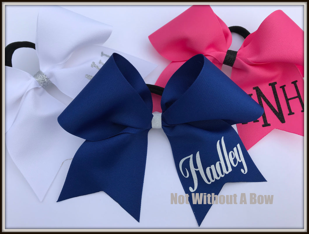 Personalized Cheer Bow | Customize Colors