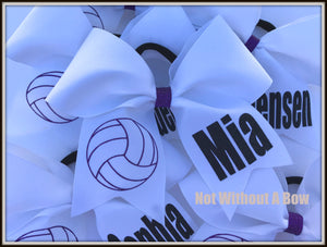 Volleyball Bow Personalized | Customize Colors