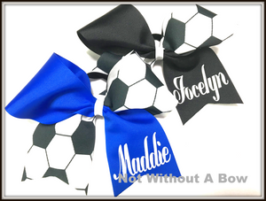 Soccer Bow Personalized  | Customize Colors