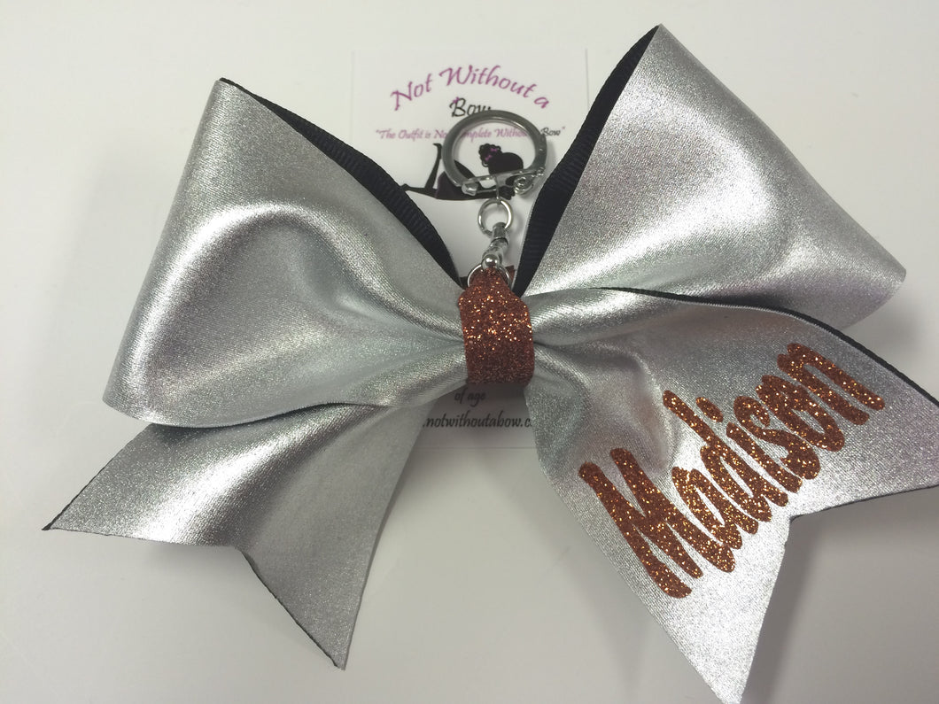 Key Chain Bow | Cheer Fabric Personalized Mini Cheer Bow | Customize Colors