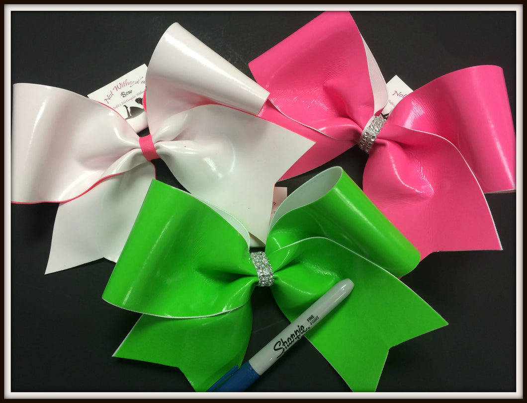Autograph Cheer Bow - Write On Bow w/ Sharpie - Customize Colors