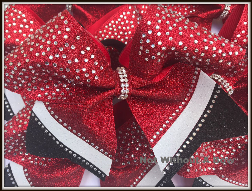 Intensity Bling Rhinestone Glitter Cheer Bow  |  NWAB Exclusive